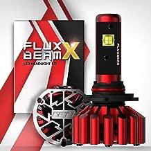 OPT7 Fluxbeam X H10 9140 9145 LED Headlight Bulbs w/Arc-Beam Lens - 8,400LM 6000K Daytime White - All Bulb Sizes - 60w - 2 Year Warranty