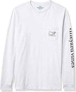 Men's Long-Sleeve Whale Pocket T-Shirt