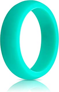 ThunderFit Womens Silicone Wedding Ring (Wedding Band) - Premium Edition - 5.5mm Wide (2.5mm Thick) - Super Strong Silicone