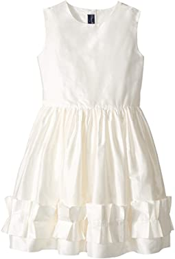 Oscar de la Renta Childrenswear - Cherie Taffeta Dress w/ Origami Ruffle Detail (Toddler/Little Kids/Big Kids)