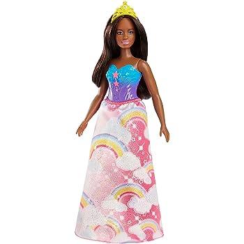 Amazon.es: Barbie Dreamtopia, muñeca Princesa falda rosa arcoiris ...