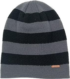 Fleece Lined Beanie Hat Mens Winter Solid Color Warm Knit Ski Skull Cap