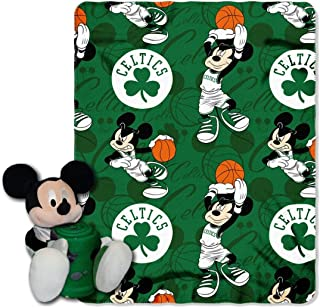 The Northwest Company Boston Celtics NBA Basketball Mickey Mouse Throw and Hugger Pillow Set