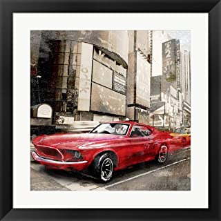 Red Rocket (Detail) by Ivan Baldo Framed Art Print Wall Picture, Black Frame, 22 x 22 inches