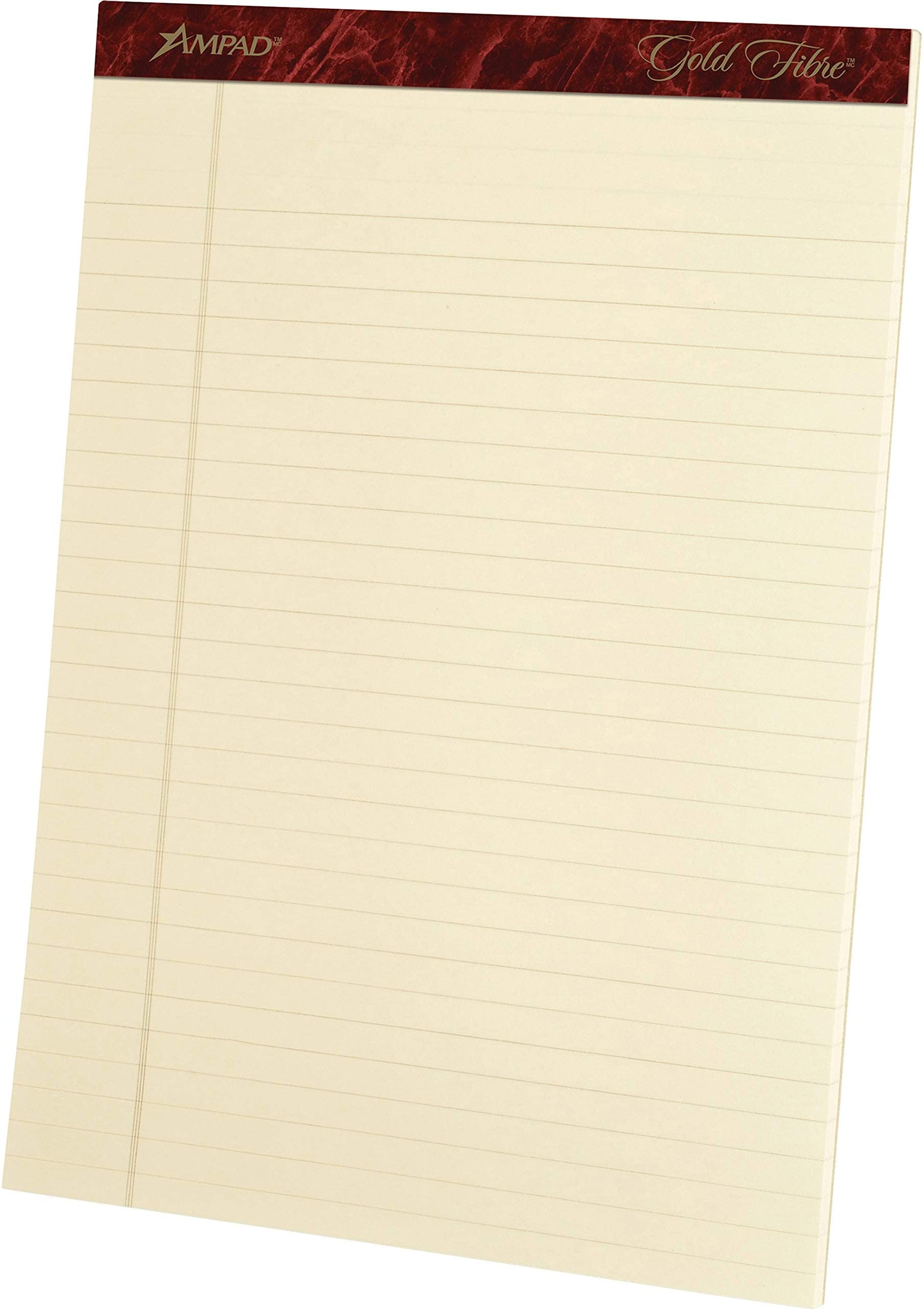 Ampad Heavyweight Writing Pad, 8.5 x 11.75 Inches, Ivory, 50-Sheet Pad (4 Pads per Pack) (20-011)
