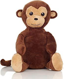 Squirrel Products Cuddle Mates Stuffed Animal Plush Toy with Weighted Bottom - 14 Inch - Monkey