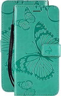 Laybomo Xiaomi Poco X3 NFCケース, Xiaomi Poco X3 NFC カバー 手帳型 かわいい蝶 高級PUレザー マグネット スタンド機能 カード収納付き 軽量 薄型 耐衝撃 耐摩擦 スマホケース 財布型カバー対応...