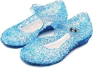 Princess Party Elsa Sandals Pearl Cosplay Shoes Kids Children Frozen Girls Anna