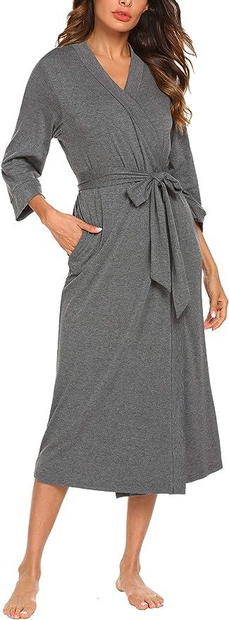 1267 opinioni per UNibelle Vestaglia e Kimono Lungo Donna Manica a 3/4 Scollo a V Accappatoio con