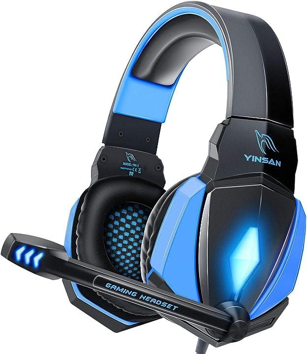 Cuffie gaming ps4, cuffie da gioco con cavo usb audio jack da 3,5 mm, cuffie over ear con microfono B07QWRBRM5