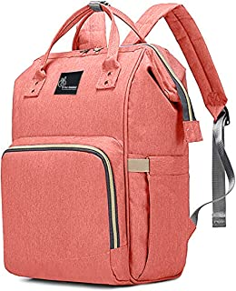 R for Rabbit Caramello Diaper Bags Backpack for Mothers/Mom for Travel-Multi-Function Waterproof,Large Capacity, Durable and Stylish. (Pink)