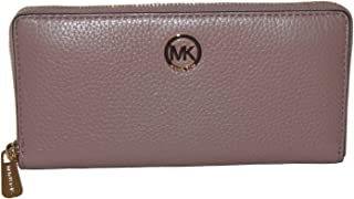 72ea9c05d2f3 Michael Kors - Fulton Zip Around Continental Pebbled Leather Wallet - Dust  Rose