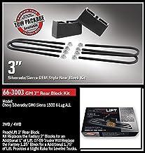 "Readylift 66-3003 3"" Rear Block Kit - GM Silverado & Sierra 1500 6-lug, silver"
