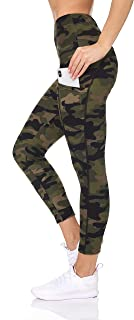 BSP Better Sports Performance Women's Active Leggings - Camo Printed High Waist Workout Pants with Pockets