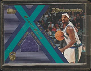 2001 Xpectations Baron Davis Hornets Game Used Jersey Basketball Card #CC-BD