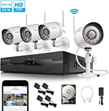 Funlux 2-Minute-Setup Smart Wireless Security Camera System, 500GB Hard Drive