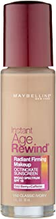 Maybelline New York Instant Age Rewind Radiant Firming Makeup, Classic Ivory 150, 1 Fluid Ounce