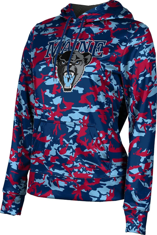 ProSphere University of Maine Girls' Pullover Hoodie, School Spirit Sweatshirt (Camo)