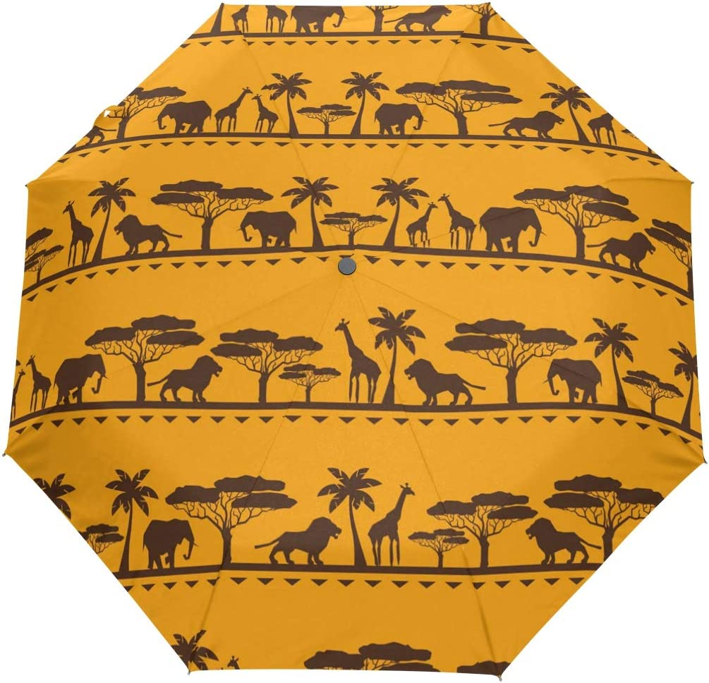 My Daily African Animals Travel Umbrella Auto Max 69% OFF Seasonal Wrap Introduction Close Open Anti-UV