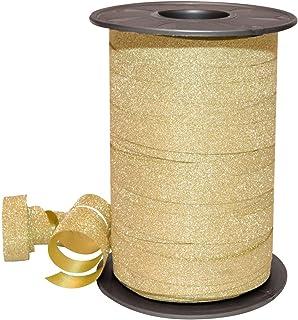 Morex Ribbon 185/9-634 Polypropylene Glitter Ribbon, 3/8-Inch by 109-Yard, Gold