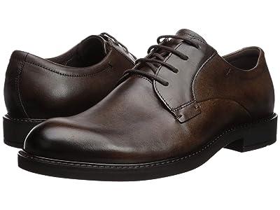 ECCO Vitrus III Plain Toe Tie (Cocoa Brown) Men