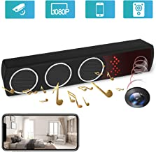Hidden Camera Speaker - Spy Camera - Mini 1080P WiFi HD IR Night Vision Wireless Motion Detection - Video Recorder Nanny Cam - APP Real Time Remote View Live