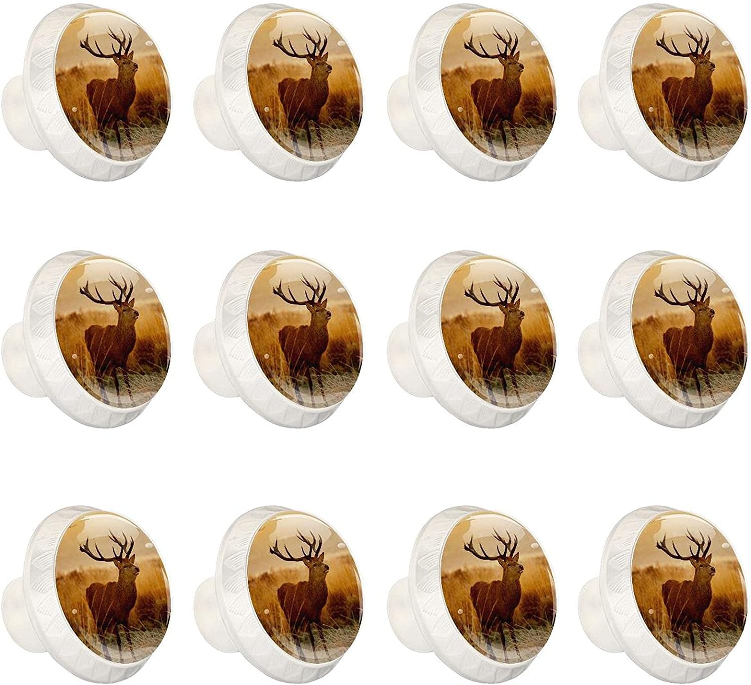 Zuyoon 12pcs Colorful shipfree Crystal Glass Deer Cabinet Whit Knobs Cute Max 85% OFF