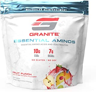Granite® Essential Amino Acids + Branched Chain Amino Acids + Electrolytes (Fruit Punch Flavor) | 10g EAAs ...