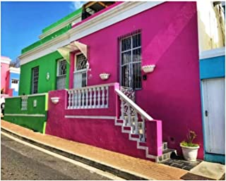 Paint By Numbers Colorful painted houses in Bo Kaap Malay Quarter Cape Town South Digital Coloring Oil Painting Canvas Wit...