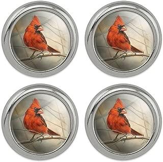 red bird buttons
