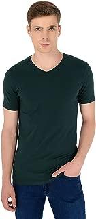 Basic Dinamik Fit V Yaka T-Shirt HAKİ