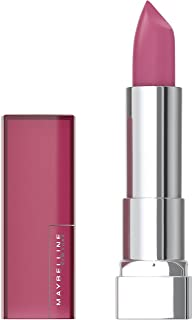 Maybelline Color Sensational Lipstick, Lip Makeup, Matte Finish, Hydrating Lipstick, Nude, Pink, Red, Plum Lip Color, Lust for Blush, 0.15 oz. (Packaging May Vary)