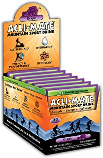 Acli-Mate Mountain Sport Drink - Altitude Sickness Hydration Aid - Grape Carton