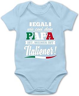 Shirtracer Egal wie Cool Dein Papa meiner ist Italiener - Baby Body Kurzarm für Jungen und Mädchen