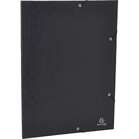 Exacompta 59502E - Carpeta con goma, A3-32X44CM, color negro