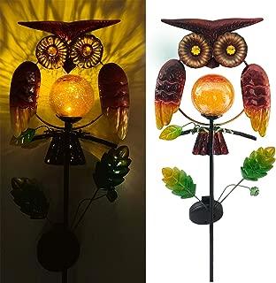 Solar Garden Lights Outdoor,Solar Powered Owl Stake Lights Decorative Garden Lights for Walkway,Pathway,Yard,Lawn