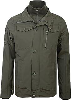 Crosshatch Mens Woodrow Jacket Double Collar Double Zip Coat