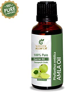 Amla Oil -(Phyllanthus Emblica- Indian Gooseberry Oil)- Carrier Oil 100% Pure Natural Undiluted Uncut Therapeutic Grade Oil 1.01 Fl.OZ