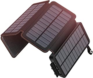 Solar Charger 25000mAh ADDTOP Waterproof Power Bank with 4 Solar Panels Portable Battery Pack for iPhone, ipad, Samsung, Smartphone, ect