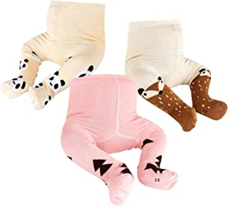 OioTuyi Baby Knitted Tights Seamless Cotton Leggings 3 Pack Pantyhose for Girls New-Born Infants Toddlers 0-2Y#Pattern_1-2Y