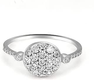 100% Real Diamond Ring Luxury Cluster Diamond Ring 1/2ct IGI Certified Lab Grown Diamond Engagement Rings For Women Lab Created Diamond Rings SI1-SI2-GH 10K Real Diamond Band Rings