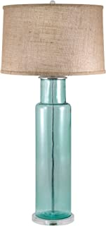 Lamp Works 216B Recycled Glass Cylinder Table Lamp, 16