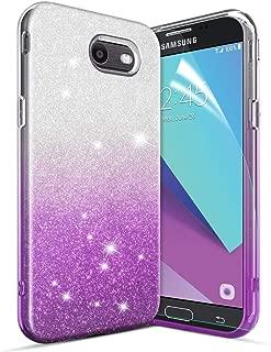 Glitter Case for Galaxy J3 2017/J3 Emerge/J3 Eclipse/J3 Luna Pro/J3 Prime/Express&Amp Prime 2/J3 Mission/Sol 2 Case[Super Sparkly][Slim 3 Layers Hybrid][Anti-Scratch]Bling Case for Girls/Women-Purple