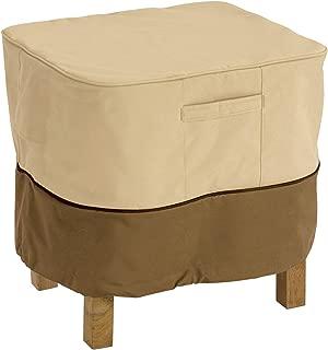 Classic Accessories 71982, Large Veranda Square Ottoman/Side Patio Table Cover, Lar, Pebble