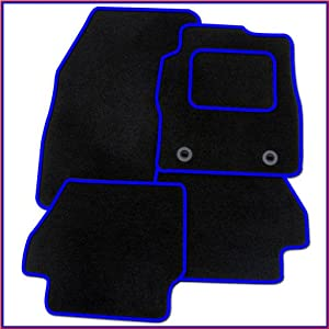 MIDELTON SA9096 Tailored Car Mats  Black  Blue Edging
