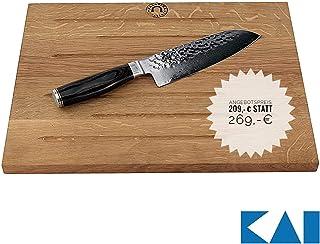 Kai Shun Premier Tim Mälzer TDM-1702 - Juego de cuchillos Santoku (18 cm, madera de roble, 40 x 30 cm)