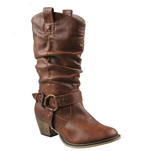 6aeb1e5a4e1 Women's Cowgirl Boots: Amazon.com