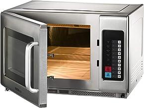 Microondas con aire caliente y función grill, 25 litros, acero inoxidable