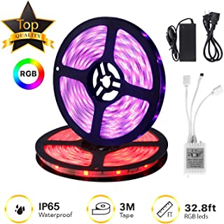 IKAAMA LED Strip Lights Kit 32.8ft/10M 300 LEDs SMD 5050 RGB, 44 Key Remote Controller, Flexible Changing Multi-Color for TV Home Kitchen Bed Room Decoration with Strong Adhesive 3M Tape