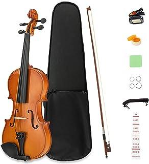 LAGRIMA 4/4 Beginner Violin,Violin Notes Sticker, Handcrafted Acoustic Violin Starter Kit, Case, Bow, Tunner,Rosin and Chi...